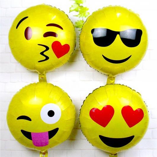Balões Metalizados de emoticons