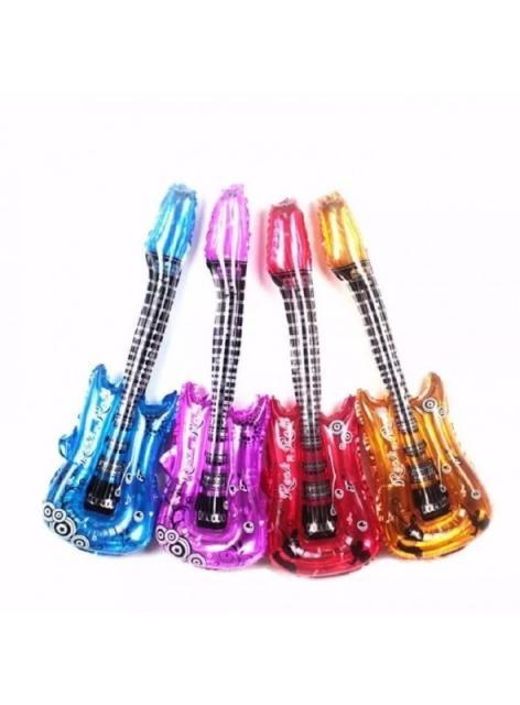 Balões Metalizados no formato de guitarra