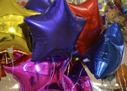 Balões Metalizados no formato de estrela azul