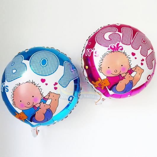 Balões Metalizados para chá de bebê