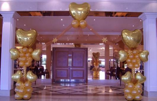 Balões Metalizados decoração de festa de casamento