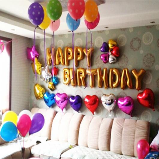 Balões Metalizados decoração de festa colorida