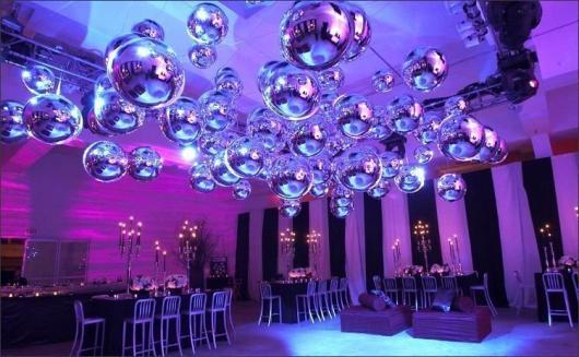 Balões Metalizados decoração de festa com tema Balada