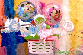 Balões Metalizados decoração de festa com tema Mickey Baby