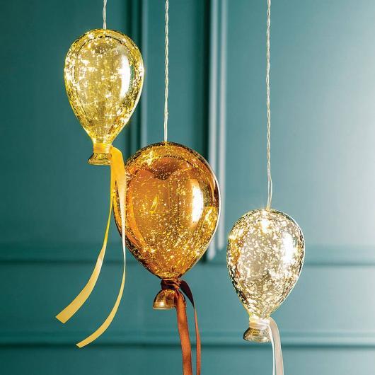 Balões Metalizados dourados e prata