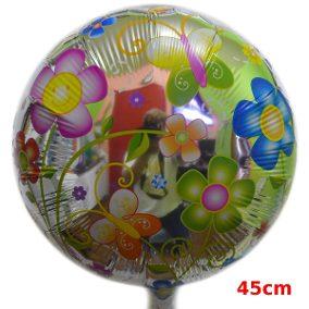 Balões Metalizados redondo com estampa de flores
