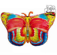 Balões Metalizados com formato de borboleta