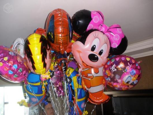 Balões Metalizados da Minnie com laço rosa