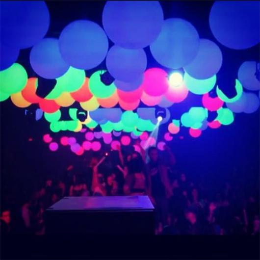 balão neon para festas