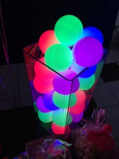 fotos de balão neon