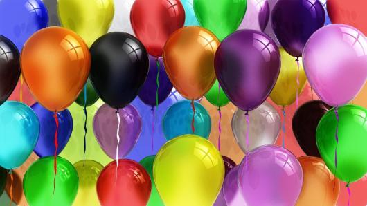 Balões de Festa metalizados coloridos