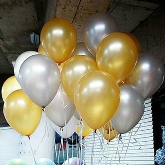 Balões de Festa metalizados pratas e dourados
