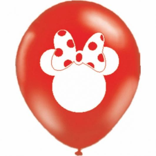 Balões de Festa personalizados com silhueta da Minnie