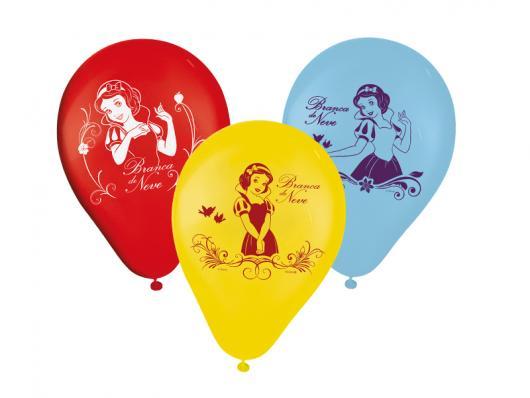 Balões de Festa personalizados com desenho da Branca de Neve