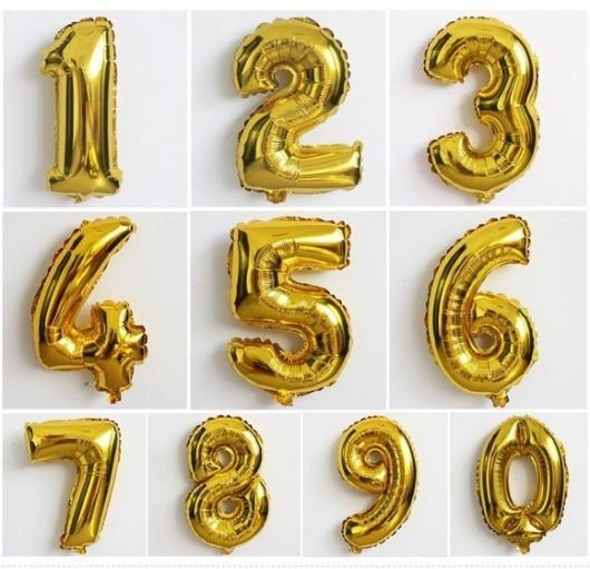 Balões de Festa com formato de número