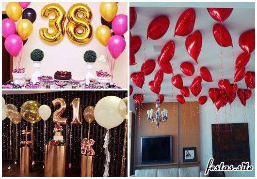 Balões de Festa metalizados com formato de corações vermelhos