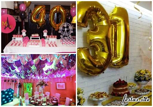 Balões de Festa metalizados no teto