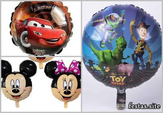 Balões Metalizados do Mickey e Minnie
