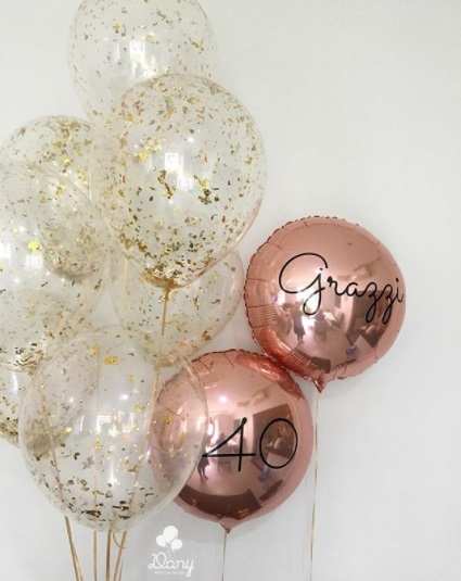 balão rose gold