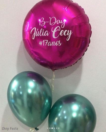balão moderno aniversário