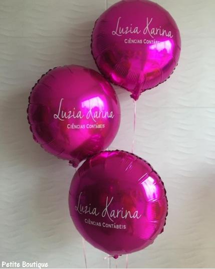 balão para formatura