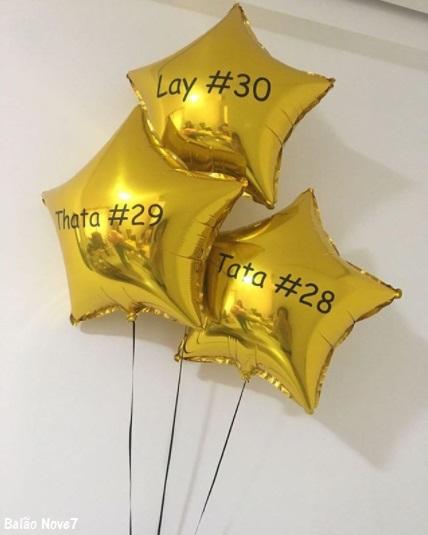 balão estrela