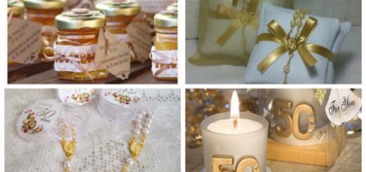 lembrança bodas de ouro