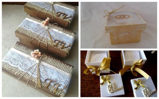 Caixas de MDF lembrancinhas bodas de ouro