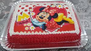Bolo de Aniversário Infantil da Minnie com papel de arroz