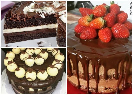 ideias para bolo trufado
