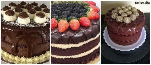 ideias para naked cake