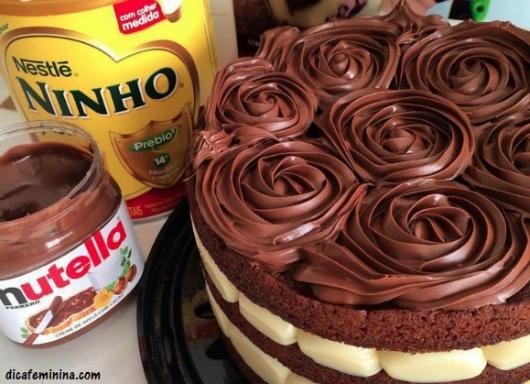 receita bolo de chocolate com nutella e leite ninho