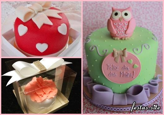 Bolo Dia das Mães mini bolo decorado com corujinha