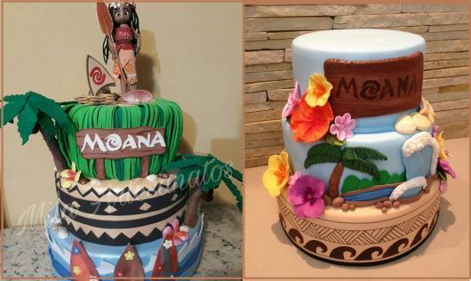 fotos de bolo fake Moana