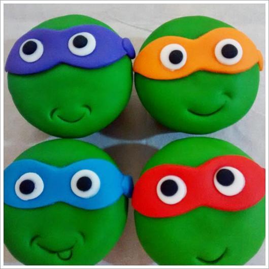 Cupcake de Tartarugas Ninja