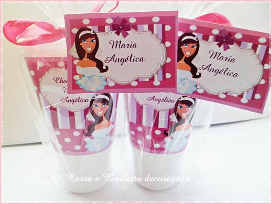 Chá de Lingerie lembrancinha bisnaga de brigadeiro personalizada