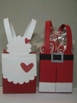 Como Embrulhar Presente de Natal personalizado no formato da roupa do Papai Noel