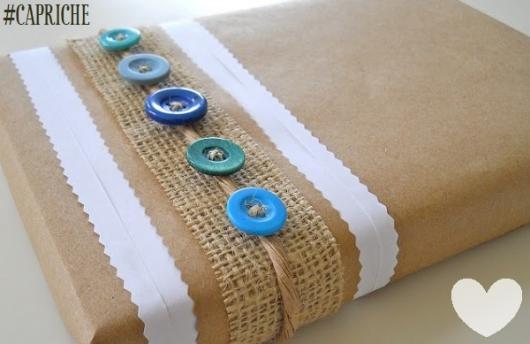 Como Embrulhar Presente com papel craft