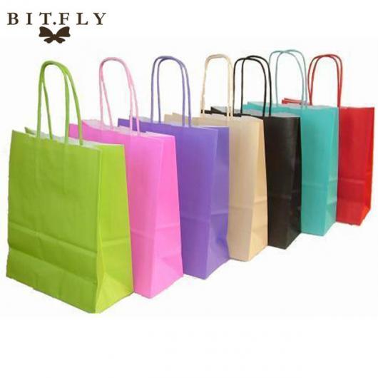 Como Embrulhar Presente com sacolas de papel coloridas