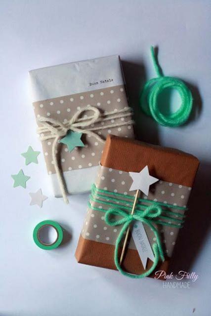 Como Embrulhar Presente com papel craft e estrela