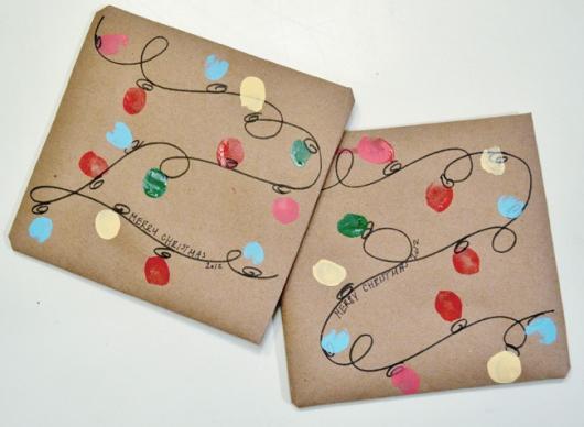 Como Embrulhar Presente de Natal com papel craft