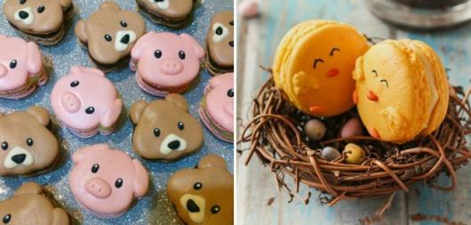 como fazer macarons decorados com formato de bichinho