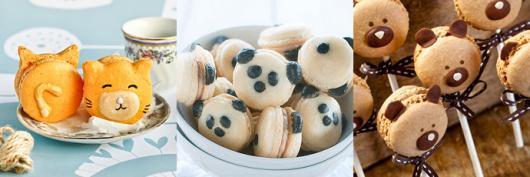 como fazer macarons decorados com formato de panda