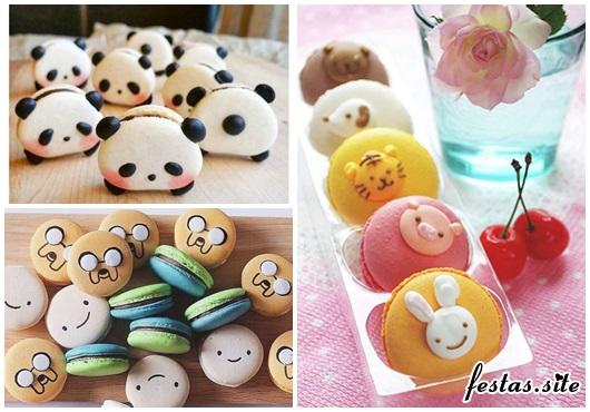 como fazer macarons com formato de panda