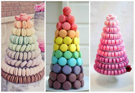 como fazer macarons em formato de torre