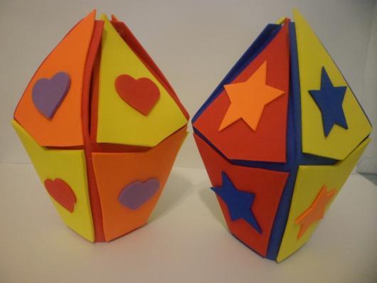 Convite Festa Junina com formato de balão de EVA