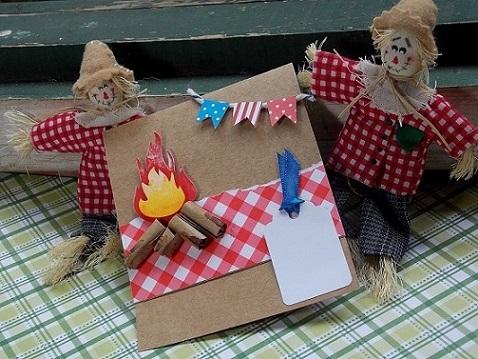 Convite Festa Junina com papel craft
