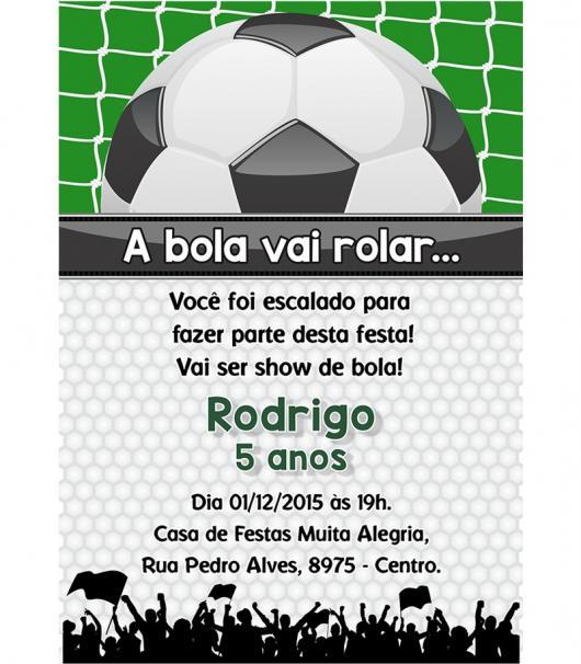 """Utilize toda a """"linguagem futebolística"""" para criar um convite temático e  divertido! 068a4acfe98c2"""