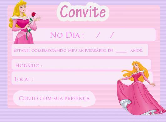 Convite Princesa 65 Ideias Lindissimas Modelos Para Imprimir Gratis