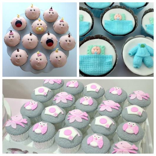 cupcakes para chá de fraldas